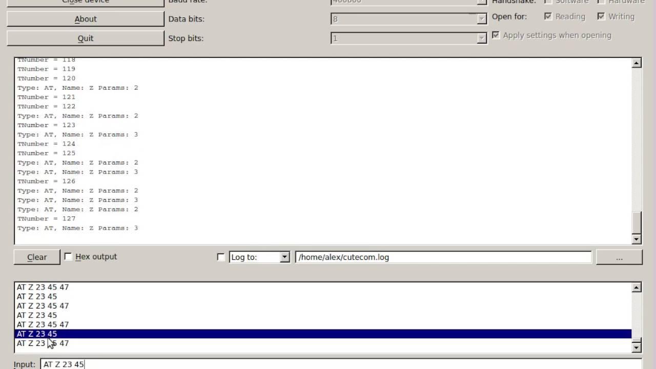 stm32 command parser