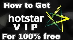 How to Get Hotstar VIP for Free  (No cost)! Get Hotstar premium for free ! Enjoy Hotstar