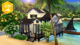 MODERN BEACH HOUSE // Sims 4 Speed Build