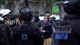 France: Dozens of protesters against COVID-19 restrictions gather in Paris
