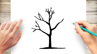 How To Draw Tree Silhouette Step By Step Youtube Begin by drawing two parallel lines. how to draw tree silhouette step by step