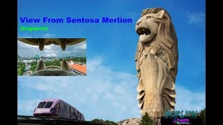 View From Sentosa Merlion (Singapore)
