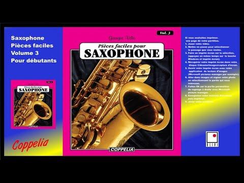 Partitions - Pièces faciles pour Saxophone vol.3 - pour débutants