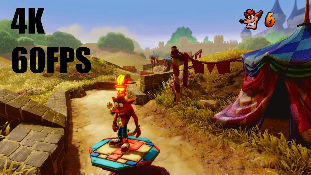 Crash Bandicoot N  Sane Trilogy - 4K/60FPS Gameplay - EVGA GeForce GTX 1080  Ti FTW3