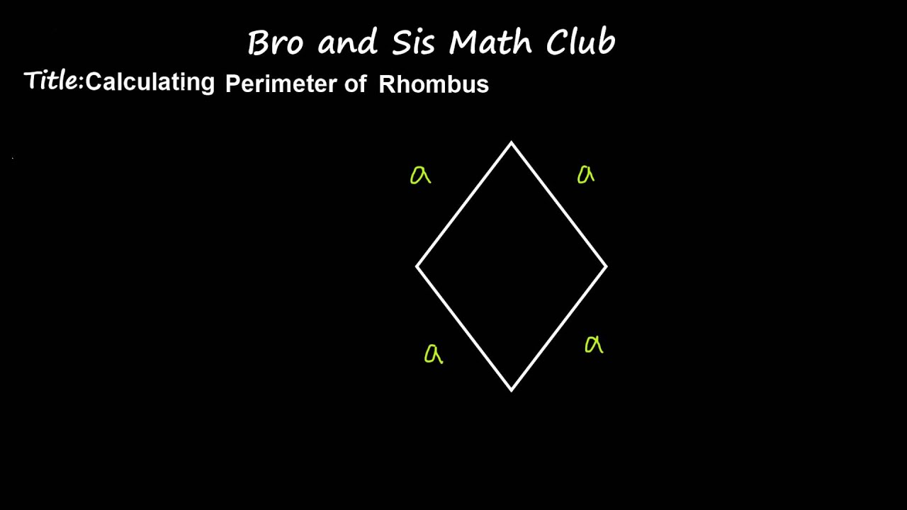 6th Grade Math Calculating Perimeter Of Rhombus