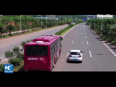 LIVE: Futuristic self-driving tech of China's 12-meter-long electric smart bus