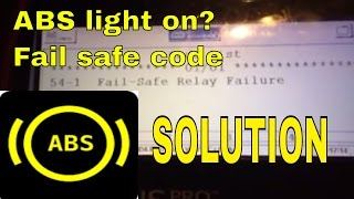 54 1 abs fail safe relay code troubleshooting