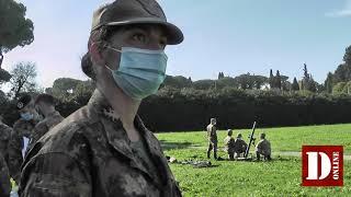 Пехотная школа Чезано: минометный огонь