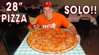 28' CHEESE PIZZA CHALLENGE in Kerrville, Texas!! (SOLO)