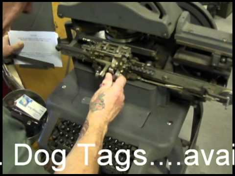 military dog tags how dog tags are made youtube