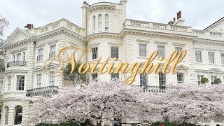 로코코 Vlog   노팅힐에서 제일 유명한 벚꽃 보러가…
