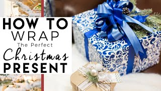 How to make a Bow - Step by step GIFT WRAPPING demonstration