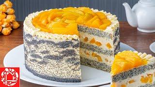 Безумно Вкусный ТОРТ с ПЕРСИКАМИ Потрясающий торт на любой Праздник