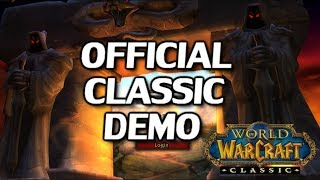 Official Classic Demo Announced! Vanilla WoW
