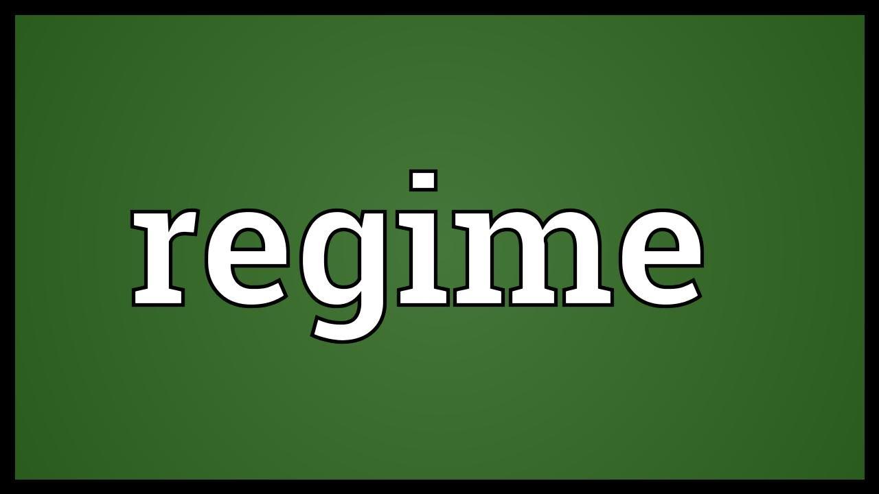 Regime Meaning