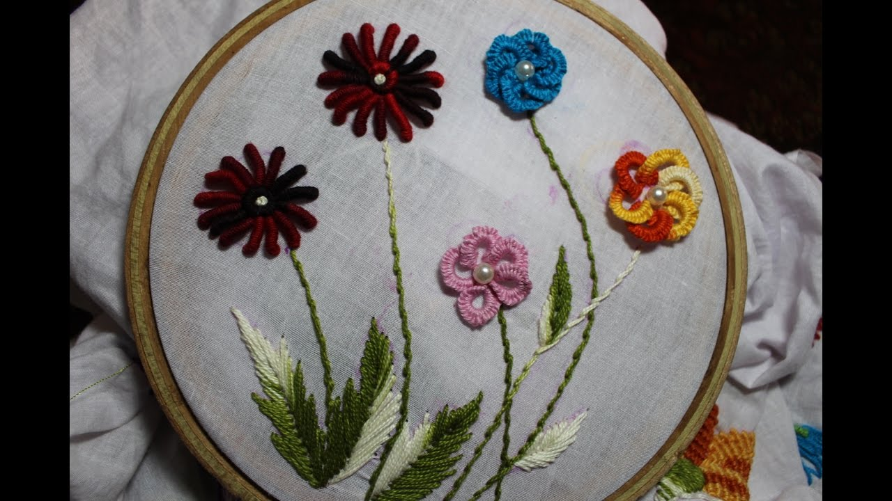 Hand Embroidery Designs | Cast on Bullion knot stitch | Stitch and ...