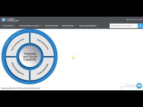 Australian Curriculum Website Capabilities