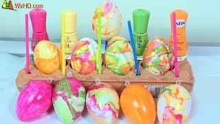 Eier färben mit Nagellack für Osterstrauß Bunte Ostereier DIY YouTube