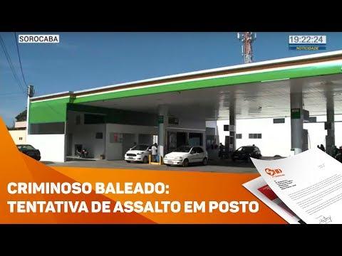 Criminoso baleado durante tentativa de assalto em posto - TV SOROCABA/SBT