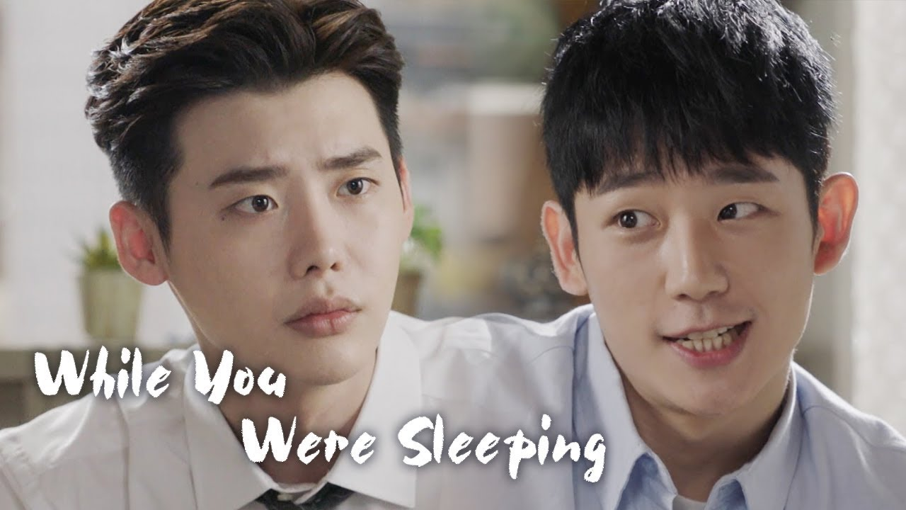 Lee Jong Suk Learns How to Speak a Cute Language From Jung Hae In [While  You Were Sleeping Ep 12]