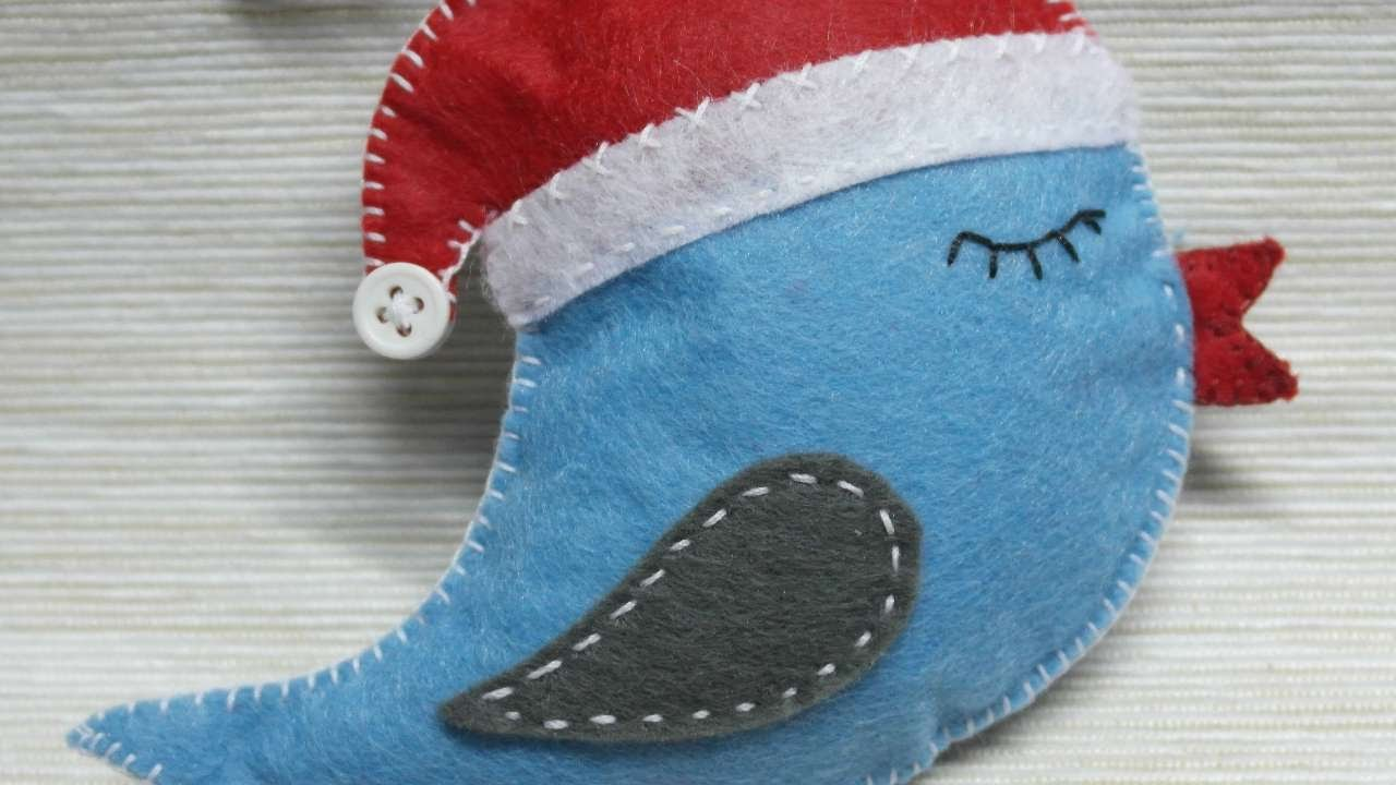 how to make a christmas felt bird ornament