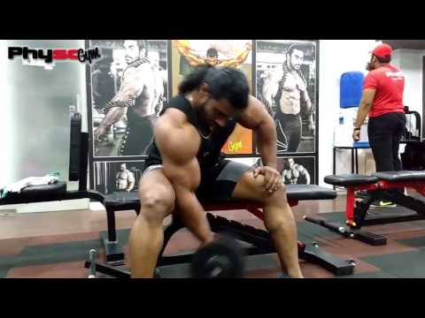 INDIAN BODYBUILDER SANGRAM CHOUGULE |WORKOUT ROUTINE| BICEPS AND SHOULDERS