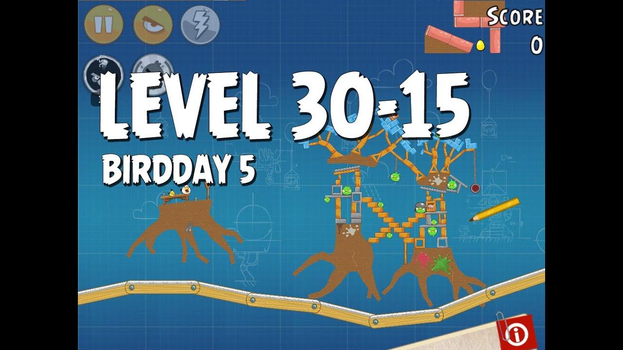 Angry Birds BirdDay 5 Level 3015 Walkthrough 3Stars YouTube