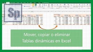 Excel - Mover, copiar y eliminar tablas dinámicas en Excel. Tutorial en español HD