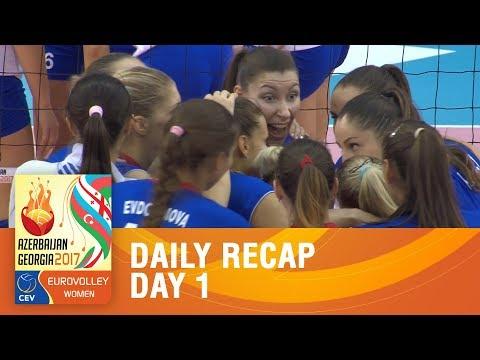 Pool Recap - Day 1 | EUROVOLLEY AZERBAIJAN AND GEORGIA 2017