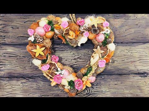 Сердце из природных материалов.Подарок к 14 февраля своими руками. Valentine's day crafts.DIY.