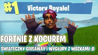 FORTNITE-FESTIVE GIVEAWAY and DUMPS with WHEELCHAIRS, EDIBLE MUSHROOMS and PATCH 4.3. I play with viewers:D