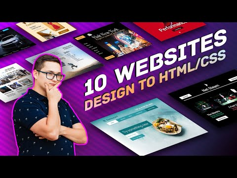 Building 10 Websites - From Design To HTML And CSS - Coding Challenge 🔥