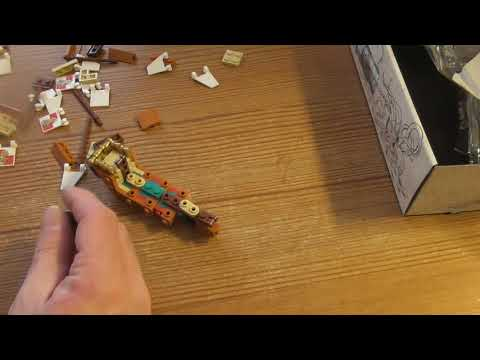 Building Lego Ideas Ship in a bottle SET 21313 PART 1
