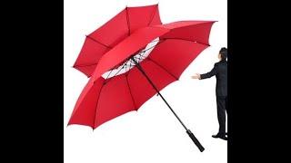 Super Large Golf Automatic Umbrella Business Umbrella Double Windproof & Rainy Umbrella