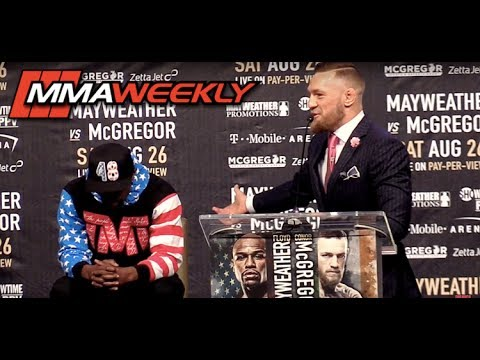 Conor McGregor Shreds Floyd Mayweather at First World Tour Stop