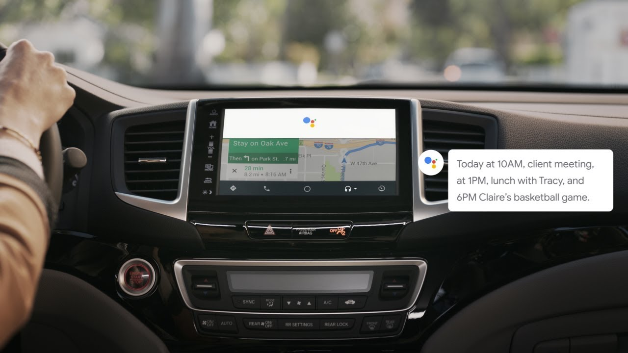 Your Google Assistant On Android Auto Plan Your Day Youtube