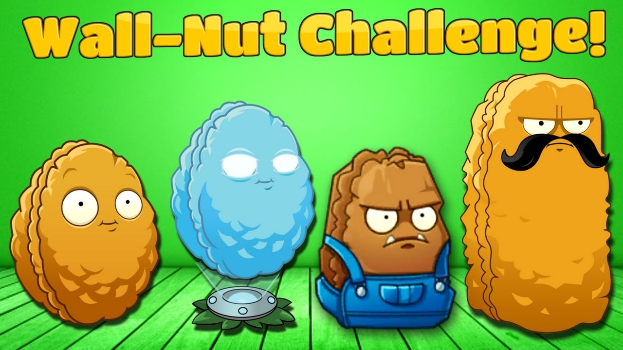 Plants vs  Zombies 2 Health Wall-Nuts Challenge