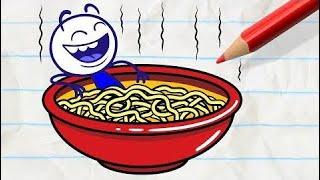 Pencilmation   Pencilmate Gets Eaten! -in- PASTA POINT OF NO RETURN - Pencilmation Cartoons   # 136