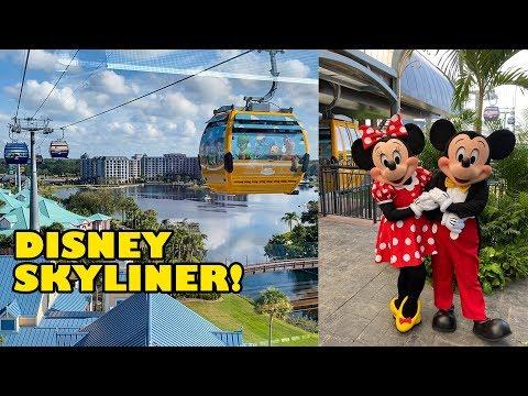 Riding The Disney Skyliner! 4K POV Of All 3 Gondola Lines! Walt Disney World Orlando