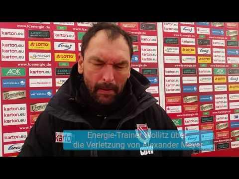 Energie-Trainer Wollitz über die schwere Verletzung von Torhüter Alexander Meyer