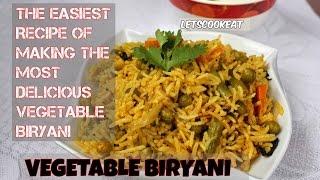 veg biryani in cooker | how to make vegetable biryani recipe in cooker