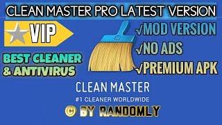 Gambar cover Clean Master PRO MOD Premium (VIP) Latest Version Apk | Download Clean Master Apk 2019