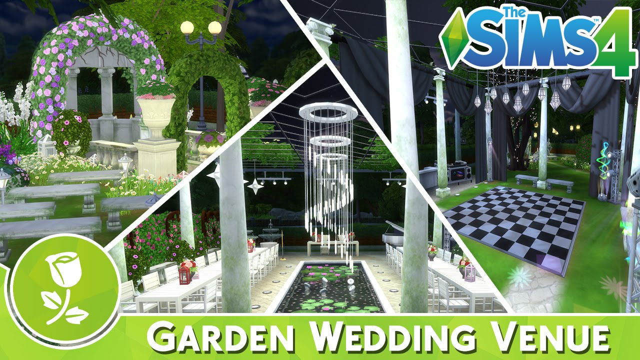 Garden Wedding Venue  The Sims 4 Speed Build  YouTube