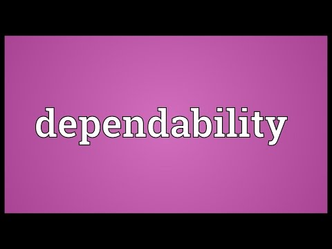 Dependability Meaning