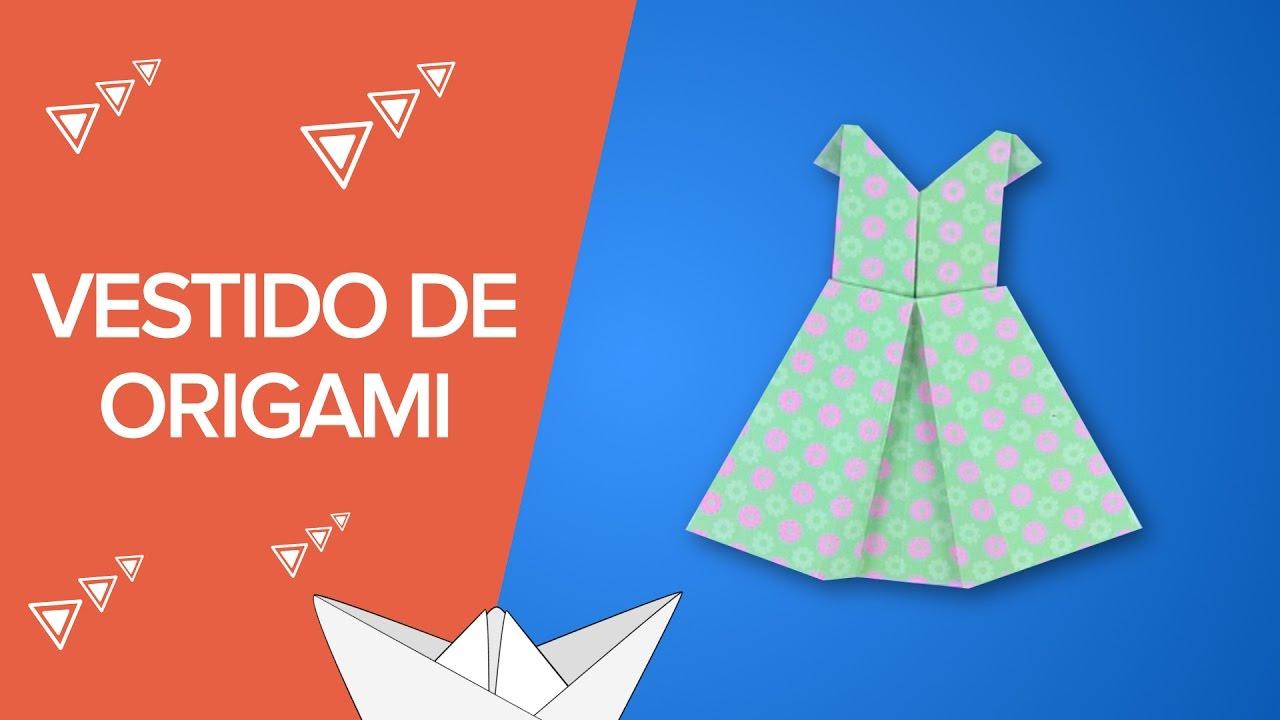 Vestido de origami paso a paso manualidades de papel - Papiroflexia paso a paso ...