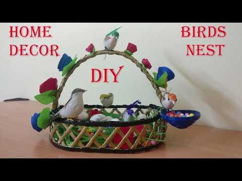 DIY | Birds Nest (Basket) | Home Decoration | Newspaper Craft