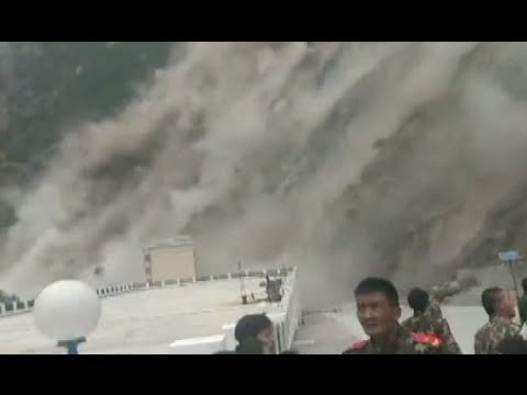 Tremors, landslide, screams: Earthquake caught on cam in Tibet