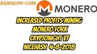 Monero HardFork = X2 Mining Profits ?!?! nicehash cryptonight v7
