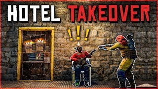INSIDE RAIDING the ENEMY HOTEL - Rust Survival Gameplay
