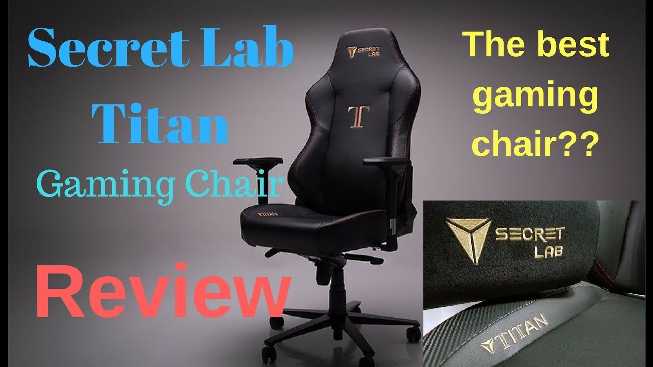 Secret lab titan gaming chair quick review youtube